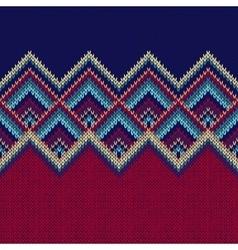 Seamless Pattern Knit Woolen Trendy Ornament vector
