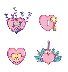 set of lovely icons vector image