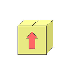 simple box package sending outline icon vector image