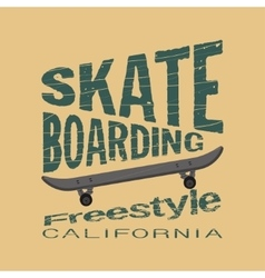 Skateboarding t-shirt - inscription typography vector