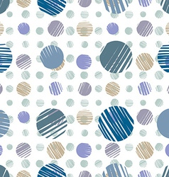 sketch dots seamless pattern vector image