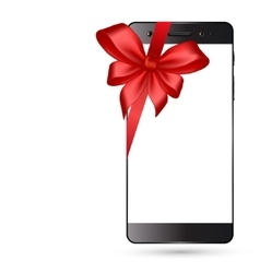 Smartphone with bow isolated vector
