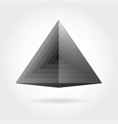 Smooth color gradient triangle icon logo vector