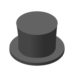 Snowman black hat isometric icon vector image