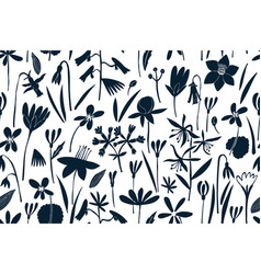 spring flowers seamless pattern scandinavian vector image