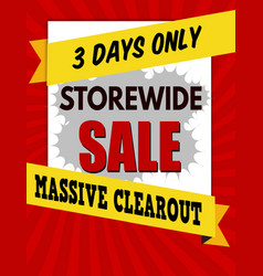 storewide sale typographic design template vector image