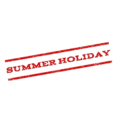 Summer holiday watermark stamp vector
