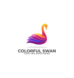 Swan colorful industry design template vector