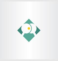 table tennis logo sign icon vector image