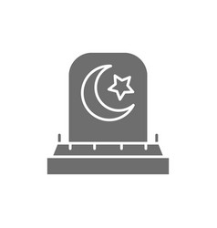 Tombstone with arabic sign grave gravestones vector