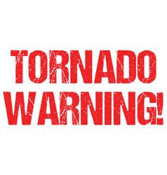 Tornado warning sign weather alert typo header vector