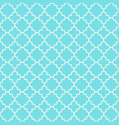 traditional quatrefoil lattice pattern trellis vector image