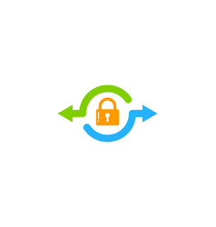 Transfer security logo icon design vector