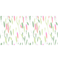 Trendy abstract brush stroke painting pattern vector