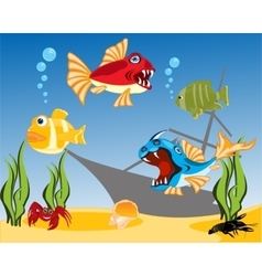 Tropical fish in water vector image