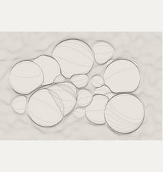 Ultra thin line bubble fluid geometry dynamic vector