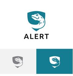 Venomous poisonous snake serpent shield dangerous vector
