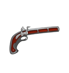 Vintage of flintlock pistol vector