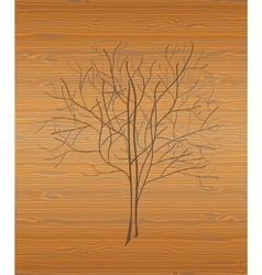 Wood texture with tree vector