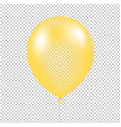 yellow balloon isolated vector image