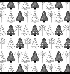 christmas tree decoration celebration wallpaper vector image vector image