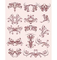 decorative ornaments for design vector image vector image