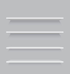 empty shelves template vector image vector image