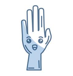 Hand human raised comic character vector