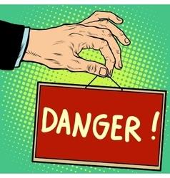 Hand sign danger vector image vector image