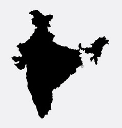 India island map silhouette vector
