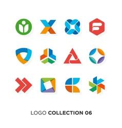 logo collection 6 vector image