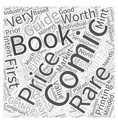 Rare and First Printing Comic Books Word Cloud vector image vector image