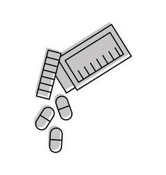 Bottle drug isolated icon vector