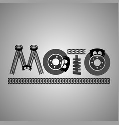 moto lettering image vector image vector image