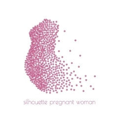 a silhouette of pregnant woman vector image