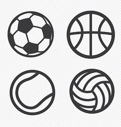 Ball icons set vector image vector image