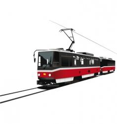 city tram vector image vector image
