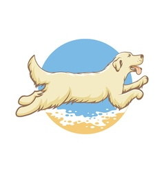 dog of the sea vector image vector image