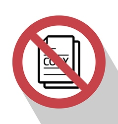 No copy sign vector image