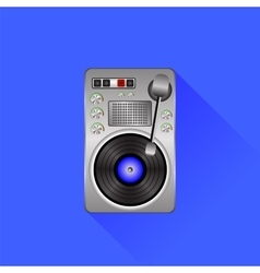 Old Turntable vector image