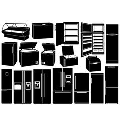 Set of different refrigerators vector image