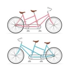 Vintage Tandem Bicycle Set vector image
