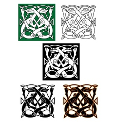 Abstract celtic pattern vector image
