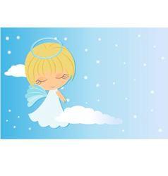 angel looking over shoulder vector image vector image
