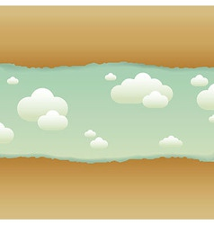 Clouds And Old Paper vector image vector image