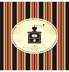 coffee vintage background vector image