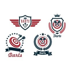 Darts heraldry emblems vector image vector image
