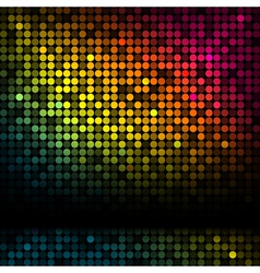 disco background with colorful lights vector image
