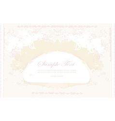 elegant vintage frame card vector image vector image