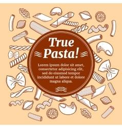 Italian cuisine food restaurant flyer vector image vector image